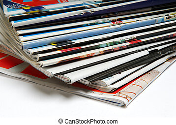 Magazines. - Pile of Magazines stacked