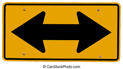 Left or Right turn only Sign