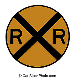 Railroad Sign cleaned up using the program photoshop