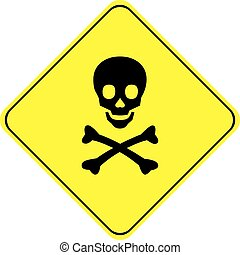 DANGER - SKULL AND BONES SYMBOL