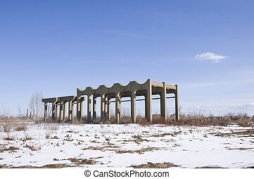 Abandoned Munitions Facility - Abandoned facility of old...