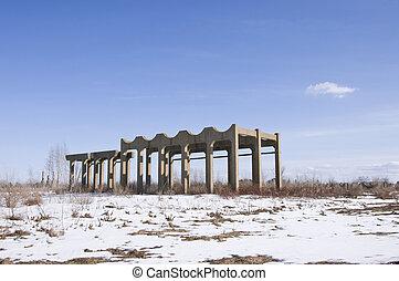 Abandoned Munitions Facility - Abandoned facility of old...