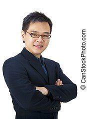 Asian businessman - Good looking Asian businessman isolated...
