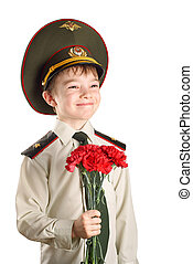 The soldier - Portrait of young boy in Ministry of Defense...