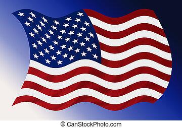 Windy USA Flag