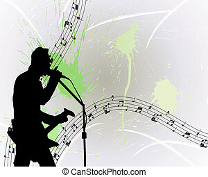 rock guitarist - Rock group guitarist Vector illustration...