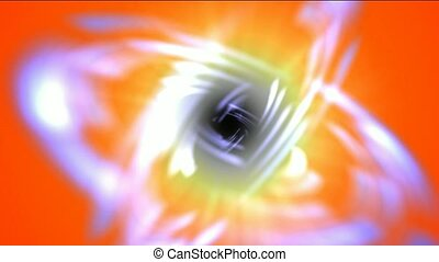 swirl curve light around black hole