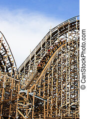 Ups and Downs - Historic wooden rollercoaster