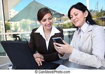 Women Business Team at Office Building - A women business...