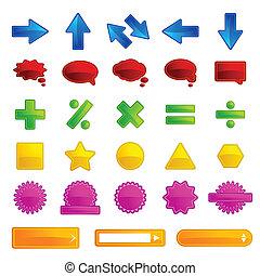 Set of Web Button