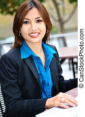 Pretty Asian Business Woman - A young, beautiful asian...
