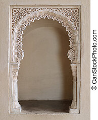 oriental alcove - close-up of an ornate alcove in a moorish...