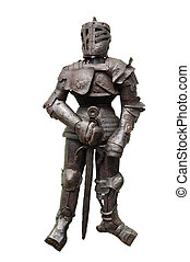 Knightly armour, it is isolated on white