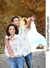 Attractive Couple at Beach