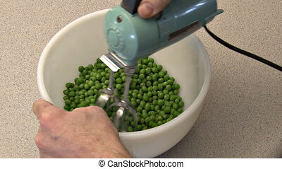 Whirled Peas - Peas whirled in a bowl with a vintage...