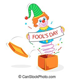 Joker wishing Fools Day - illustration of joker wishing...