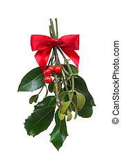 feriado, navidad, muérdago