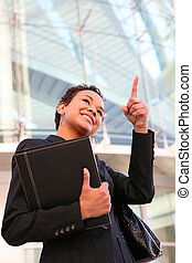African Business Woman at Office - A pretty african american...