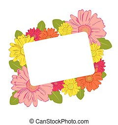 Colorful blossoms frame