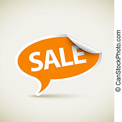 Sale speech bubble as sticker