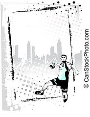 handball vertical frame - illustration of the handball...