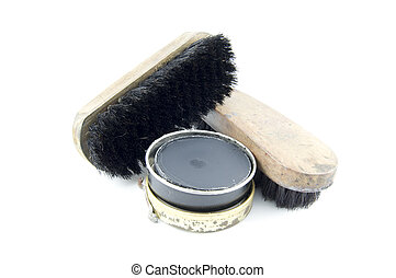 shoe polish and tools