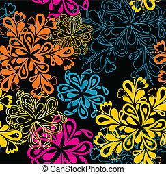 Flower Pattern seamless. Vector