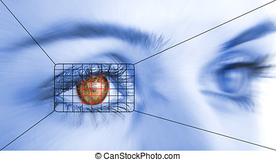 security system - Eye system security identification