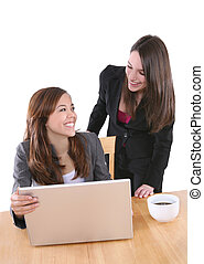 Woman Business Team Isolated
