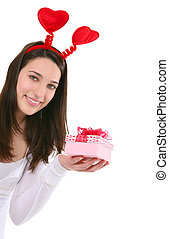 Pretty Woman Giving Gift