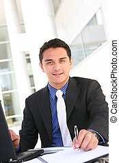 Hansome Business Man - Handsome Latino Business Man at...
