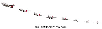 Sequence of airplane takeoff