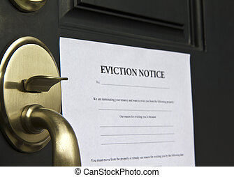 Eviction Notice Letter on Door - Eviction notice letter...