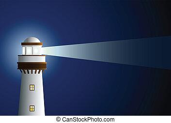 lightouse - lighthouse in the dark blue
