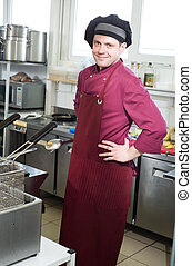 chef with scoop