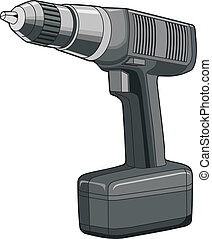 Drill - Illustration of a rechargeable drill.