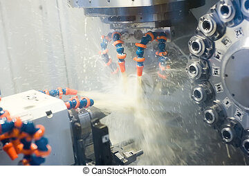 Automated detail machining at N milling tool center