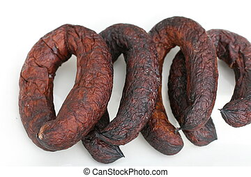 smoked sausage - garlic sausage
