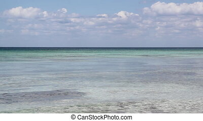 Caribbean ocean. - View of gentle and colourful Caribbean...