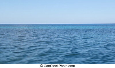 Travel over Caribbean sea. - View of blue Caribbean ocean...