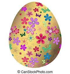 Big golden Easter`s egg