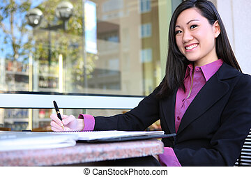 Young Asian Business Woman - A pretty asian business woman...