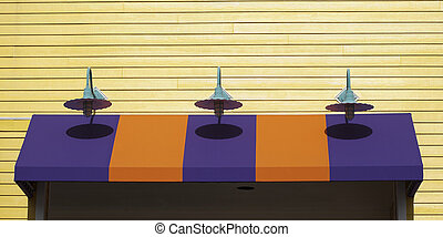 Canopy Lights - Lights show their shadows on the coloful...