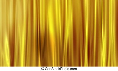 Golden Curtain Motion Background