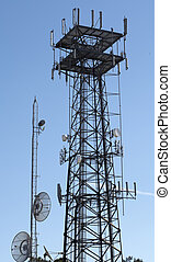 Digital Information Tower - Tower connected to the world of...