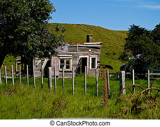 Farm cottage, in need of repair.