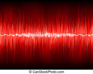 Abstract waveform vector background. EPS 8