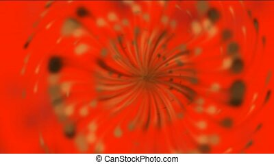 Dandelion seeds being blown,rotation petals and...