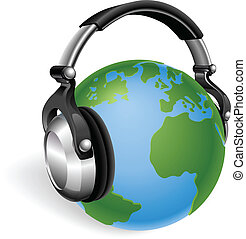 The world listening - The world earth globe listening to...