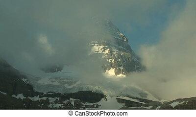 Mount Assiniboine clouds time lapse